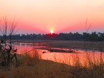 Sunset over Luangwa River