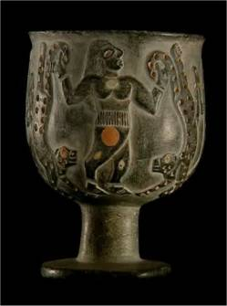Iranian artifact depicting cheetahs