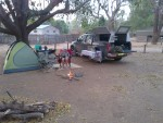 Chilling at our camp