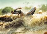 Pororoca surfing