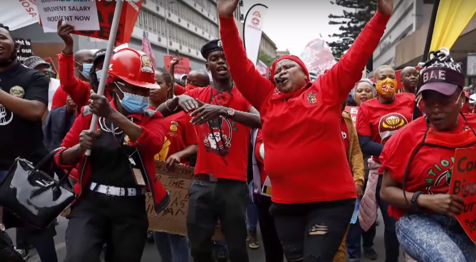 South African trade union strike